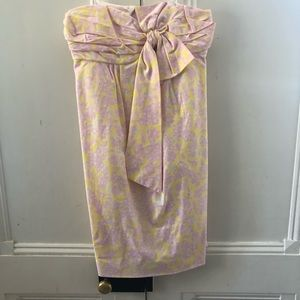 NWOT LILLY Pulitzer Bow Strapless Dress